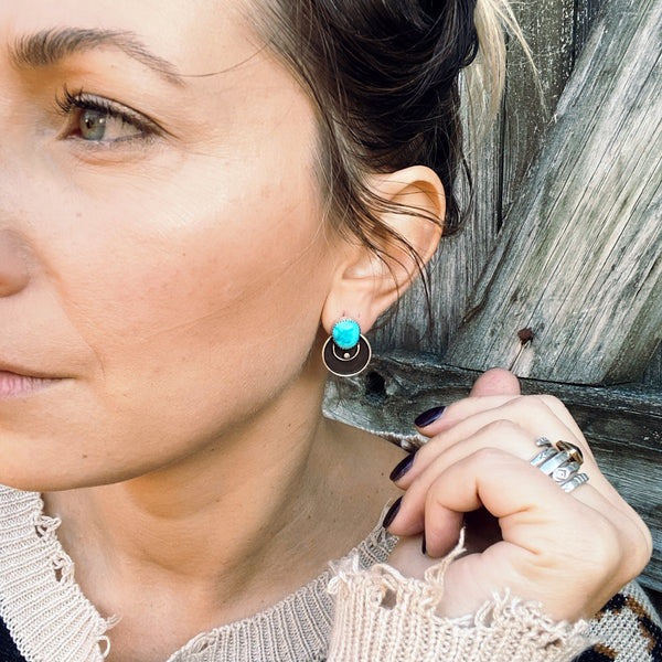 TURQUOISE CIRCULO EARRINGS
