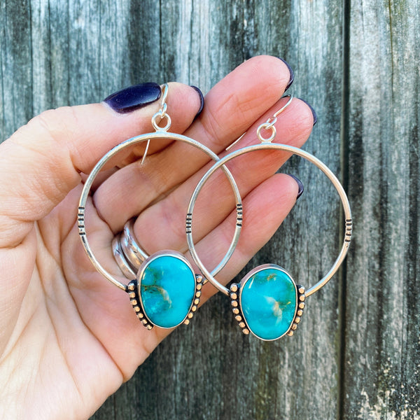 ROYSTON TURQUOISE HOOP EARRINGS