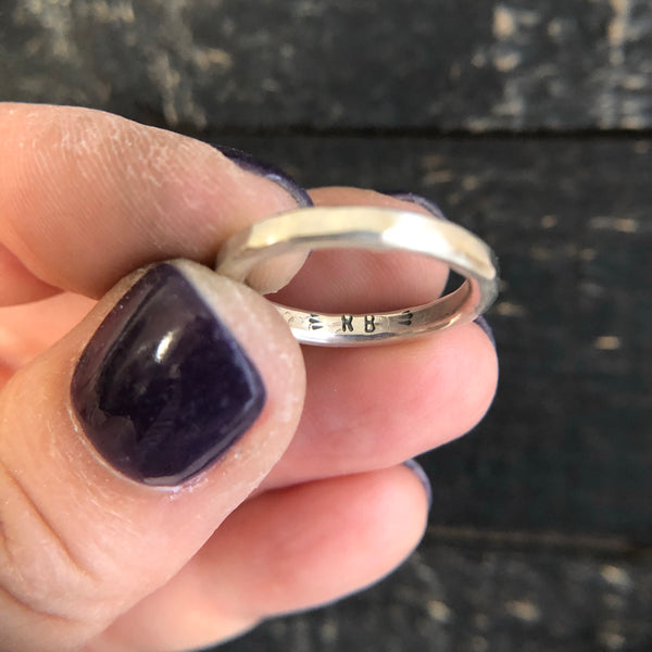 THICK SILVER STACKING RING - MADE TO ORDER