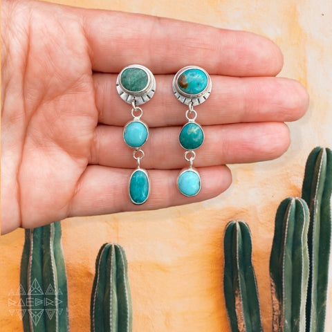 SOLAR CASCADE EARRINGS - TURQUOISE
