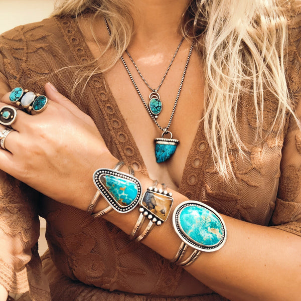 GOLDEN TURQUOISE CUFF