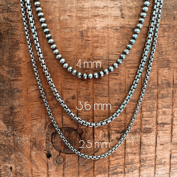 2.5MM ROUNDED BOX CHAIN