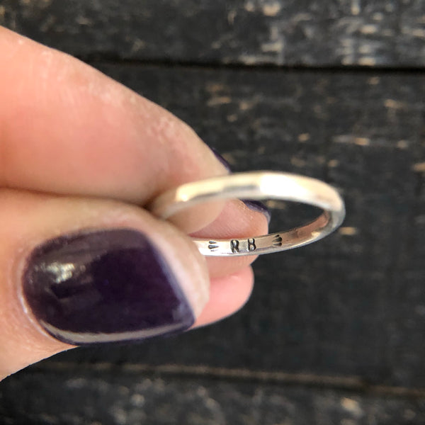 THIN SILVER STACKING RING - MADE TO ORDER
