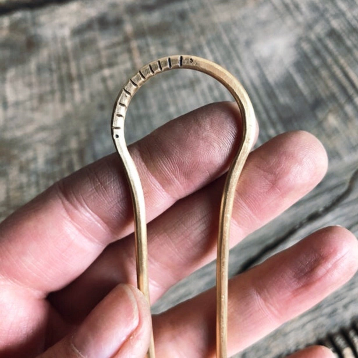 GOLD HAIR FORK - MADE TO ORDER