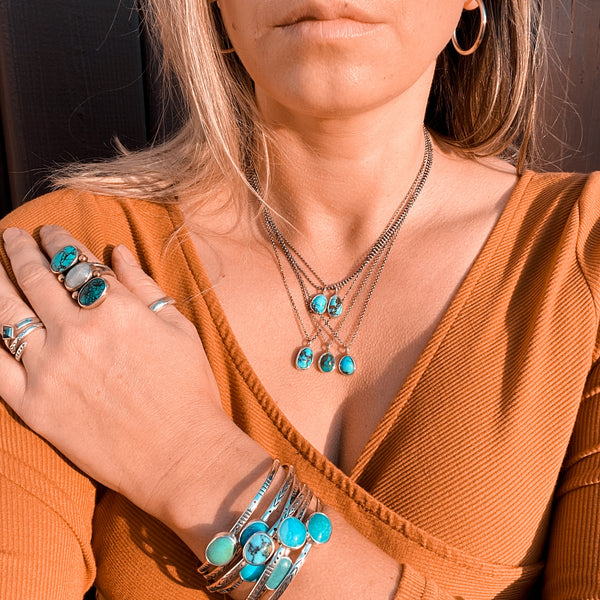 TURQUOISE STACKING CUFF - NO. 1