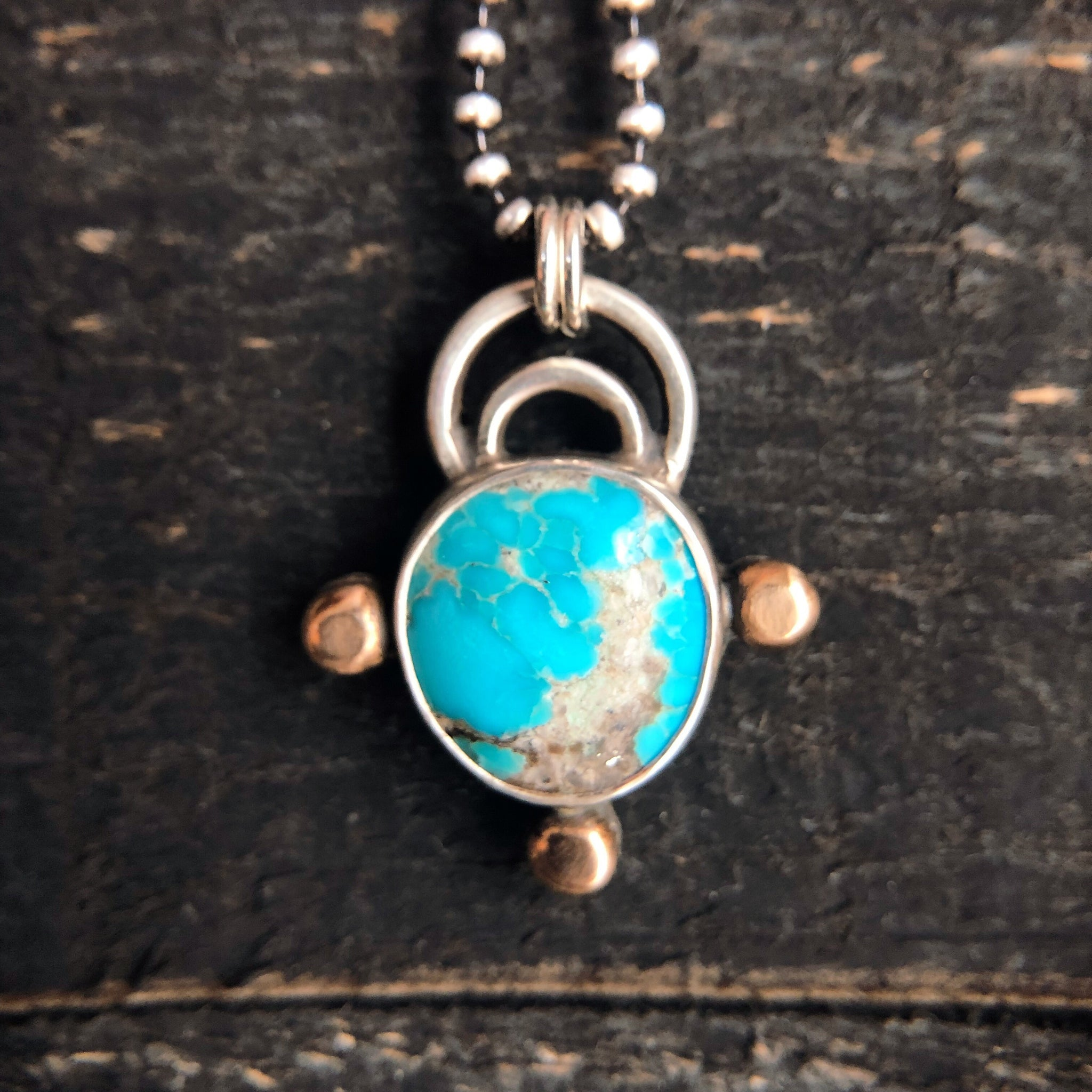 COMPASS NECKLACE - TURQUOISE