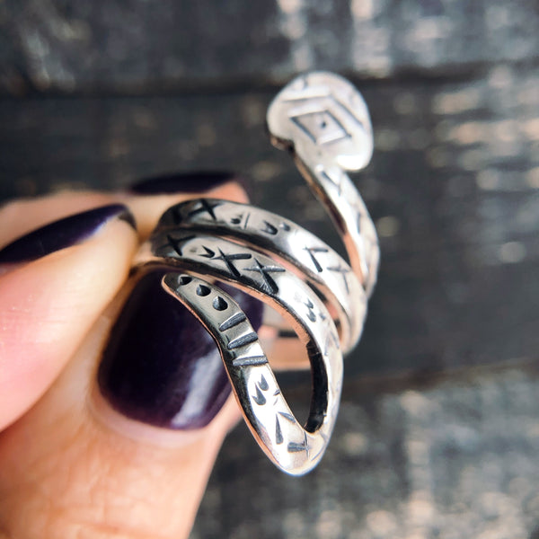 SILVER SNAKE STATEMENT RING - MADE TO ORDER