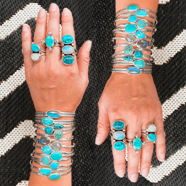 DOUBLE STACKING CUFF - TURQUOISE