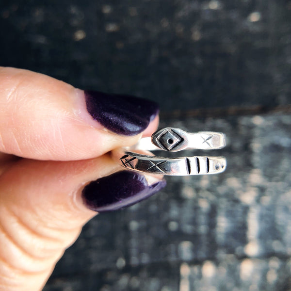 SILVER SNAKE STACKING RING - MADE TO ORDER