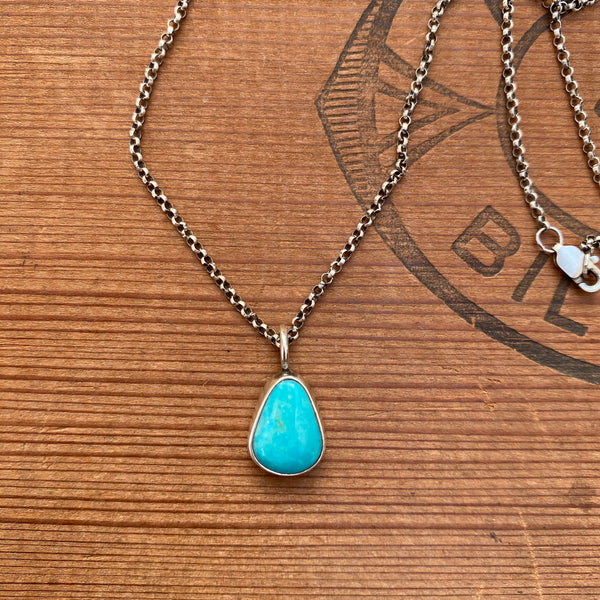 SIMPLE TURQUOISE NECKLACE - NO. 4