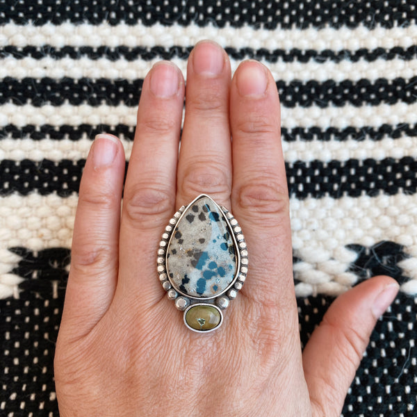 WARRIOR RING NO.10 - JASPER + TURQUOISE