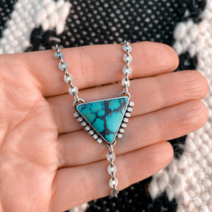 TURQUOISE LARIAT NECKLACE - NO. 1