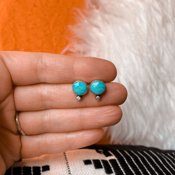 TURQUOISE DROP STUDS - NO. 4
