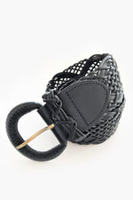 Rodeo Drive Woven Leather Belt (Black)