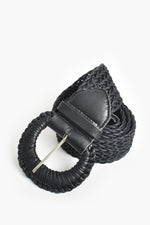 Plait Weave Byron Belt (Black)