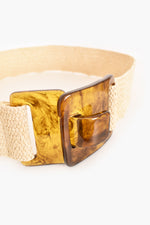 Resin Clip Stretch Belt (Natural)