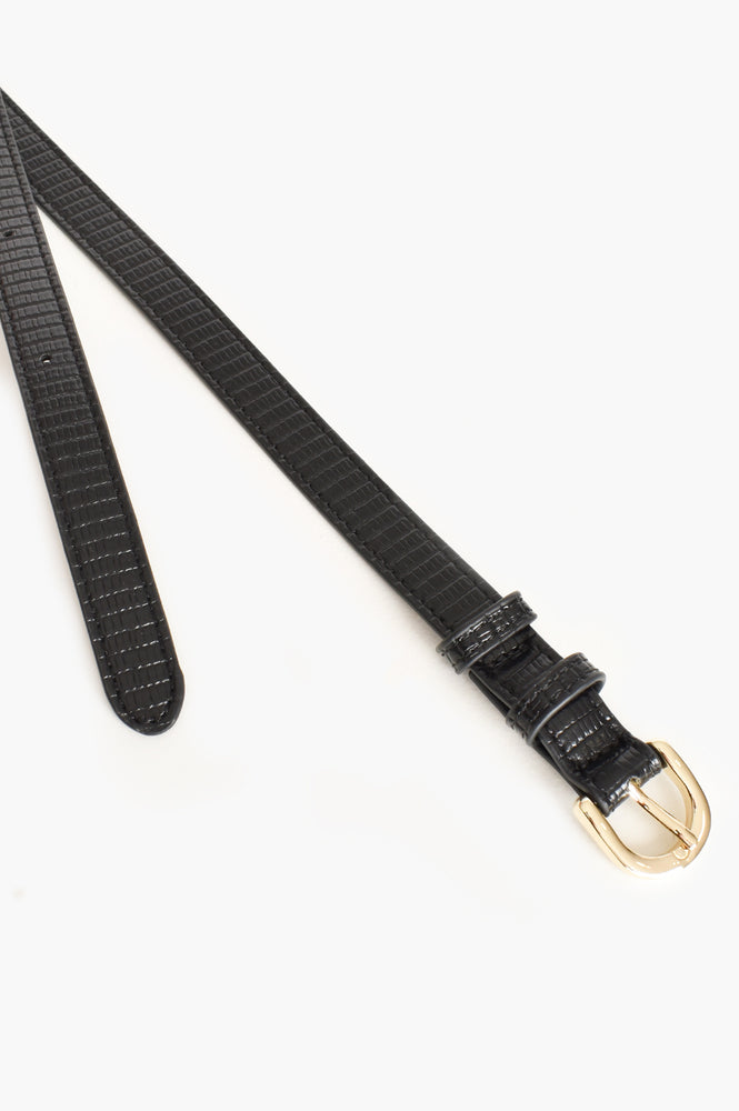 Narrow Reptile Belt (Black)