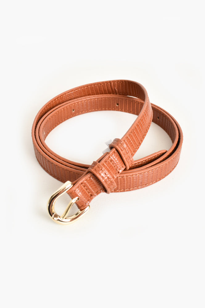 Narrow Reptile Belt (Tan)