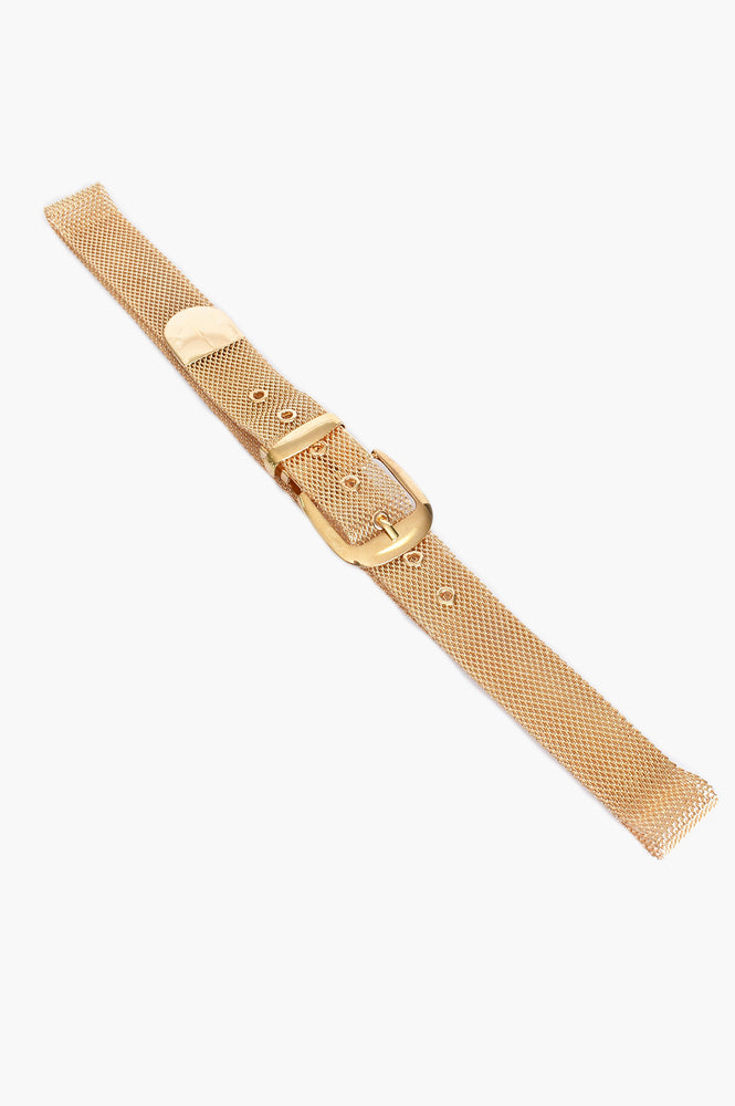 Mesh Buckle Belt (Gold)