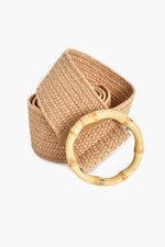 Bamboo Buckle Stretch Belt (Natural)