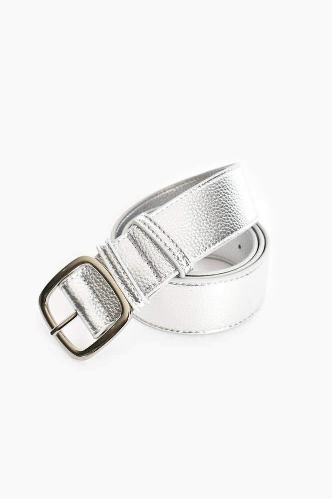 Jade Square Buckle Belt (Silver)