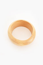 Smooth Rounded Timber Bangle (Tan)
