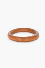 Thin Rounded Timber Bangle (Tan)