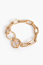 Medium Oval Chain Link Bracelet (Gold)