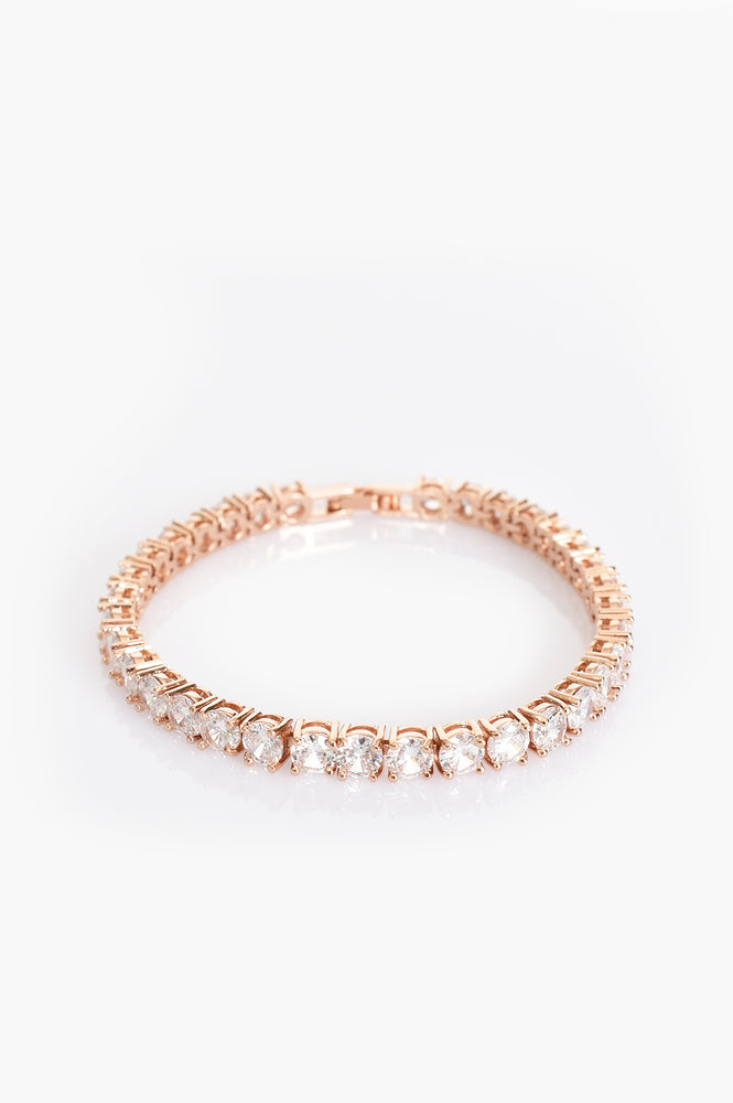 CZ Tennis Bracelet (Crystal/Rose)