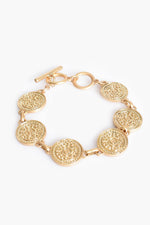 Ancient Discs Toggle Bracelet (Gold)
