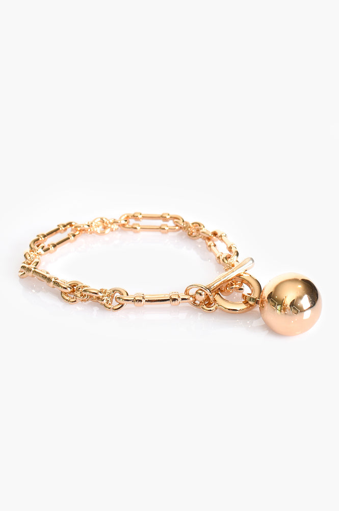 Vintage Chain and Ball Bracelet (Gold)