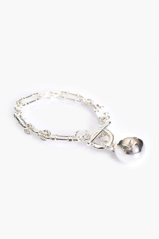 Vintage Chain and Ball Bracelet (Silver)