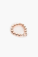 Metal Ball Fob Bracelet (Rose)
