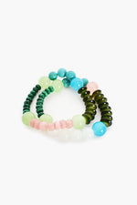 Pop of Colour Bead Mix Bracelet (Green)