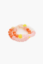 Pop of Colour Bead Mix Bracelet (Orange)