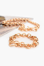 Toggle Detail Chain Bracelet (Gold)