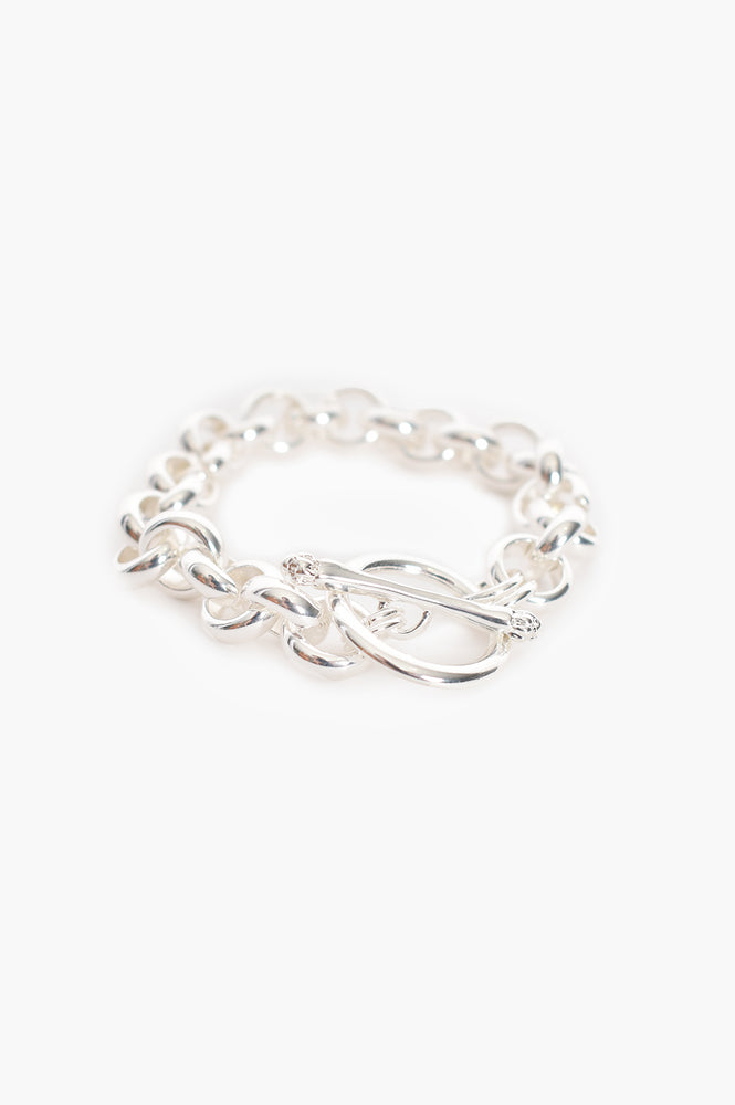 Toggle Detail Chain Bracelet (Silver)