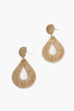 Woven Teardrop Earrings (Camel)