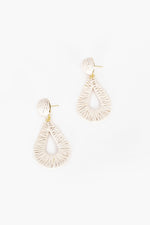Milli Woven Teardrop Earrings (Stone)