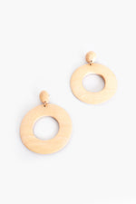 Timber Ring Drop Earrings (Cream)
