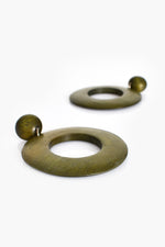 Timber Ring Drop Earrings (Khaki)