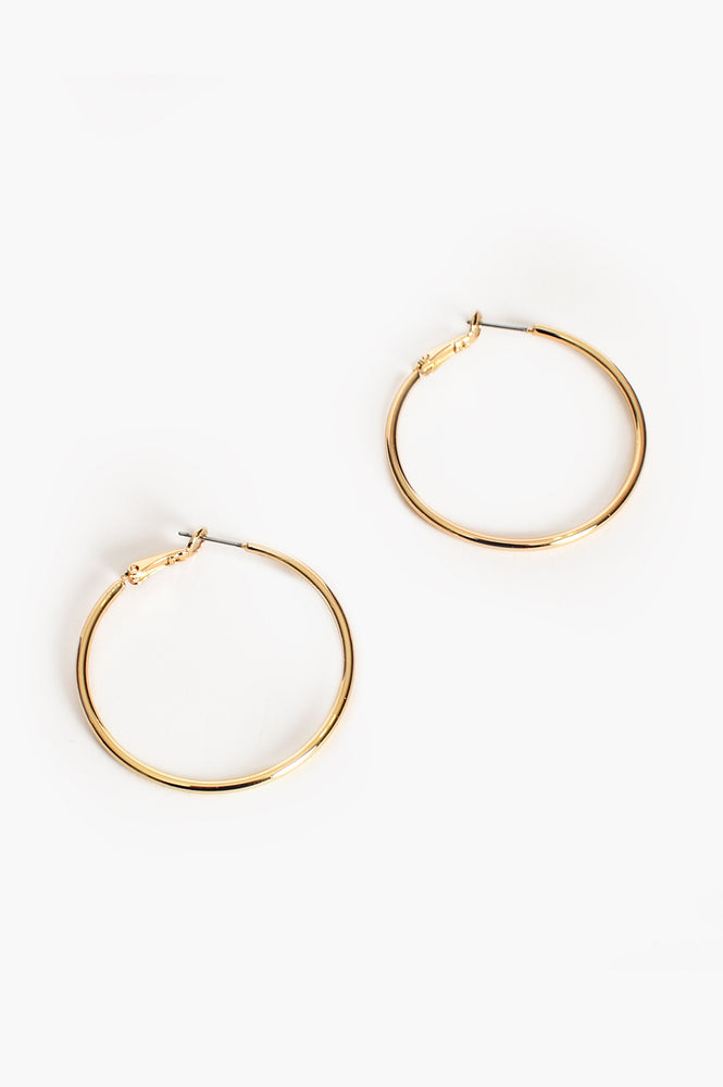Medium Fine Hoop (Gold)