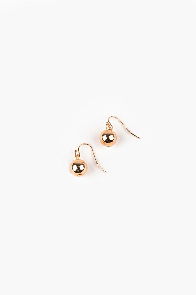 10mm Ball Hook Earrings (Gold)
