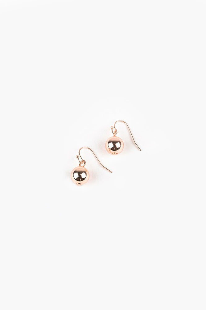 10mm Ball Hook Earrings (Rose)