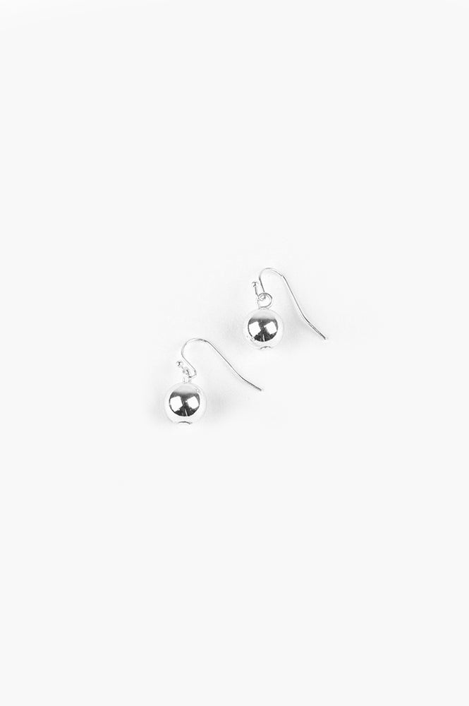 10mm Ball Hook Earrings (Silver)