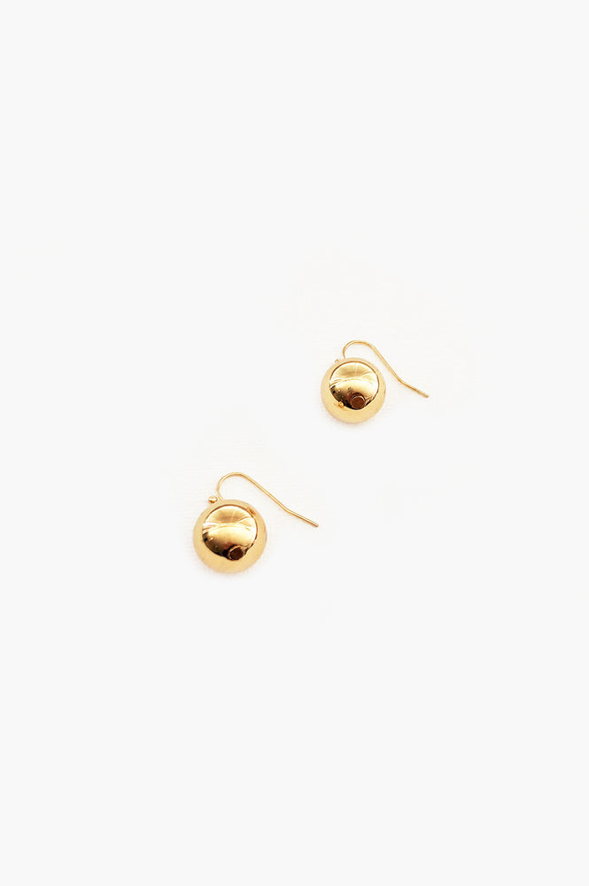 14mm Ball Hook Earrings (Gold)