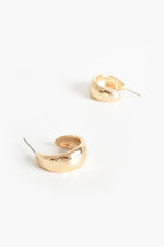 Mini Hoop Front Earrings (Gold)