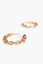 Tilly Chain Hoop Earrings (Gold)