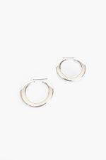 Heidi Metal Hoop Earrings (Silver)