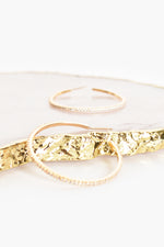 CZ Hoop Earrings (Gold/Crystal)